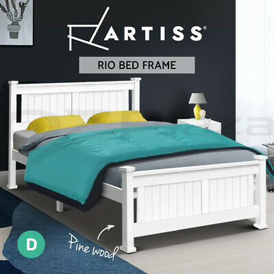 NEW Wooden Bed Frame RIO Double Pine Wood Kid Children Adult Timber Slat