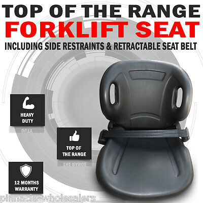 New Forklift Seat With Side Restraints And Retractable Seat Belt