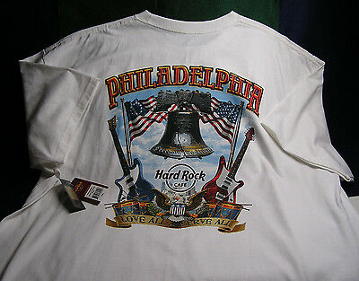 "Hard Rock Cafe ""PHILADELPHIA PA"" City T-Shirt Brand NEW w/Tags - Size XXL"