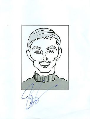 "RICHARD THOMAS ""Johnny Boy Walton"" The Waltons Signed 8.5x11 Cartoon Autograph a"