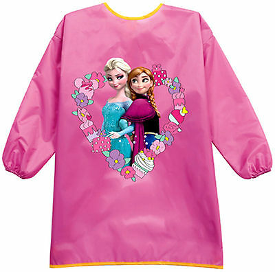NEW Kid Girl Child water resist Frozen Bib Back to school Apron Art Paint Smock