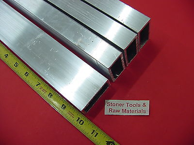 "4 Pieces 1""x 2""x 1/8"" Wall ALUMINUM RECTANGLE TUBE 6063 T52 x 10"" Long .125"" W"