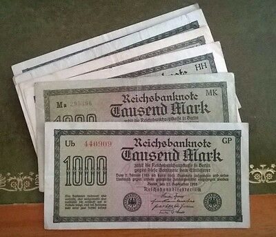 GERMANY REICHSBANKNOTE 1000 MARK 1.9.1922  /sold as each