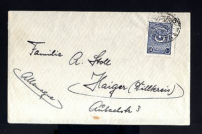 7495-TURKEY-OLD OTTOMAN COVER CONSTANTINOPLE to HAIGER (germany) 1924.Turquie.