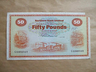 Northern  Bank  £50  Note, 1970.
