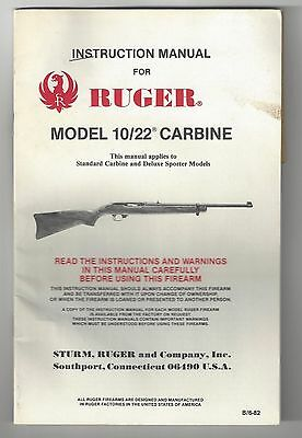 Ruger 10/22 Carbine Instructions Manual - with Scope Base