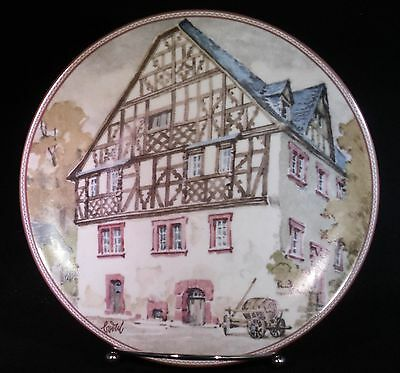 """Konigszelt Bayern Collector Plate """"MOSELHAUS IN RIFSBACH"""" BY KARL BEDAL NEW/COA"""