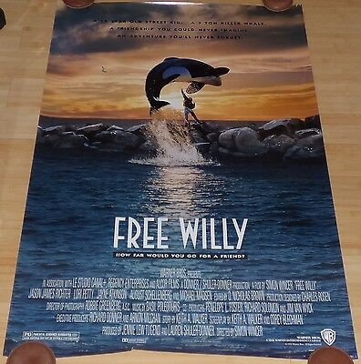 Free Willy 1993 Original Rolled Ds 1 Sheet Movie Poster Lori Petty