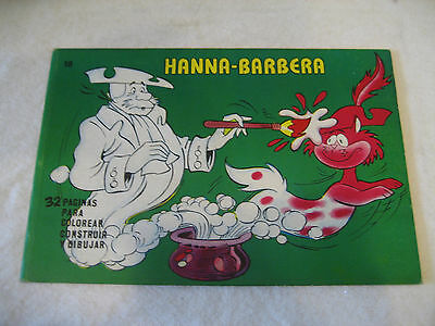 1977 vintage Hanna Barbera FUNKY PHANTOM coloring book Scooby Doo RARE Spain !!!