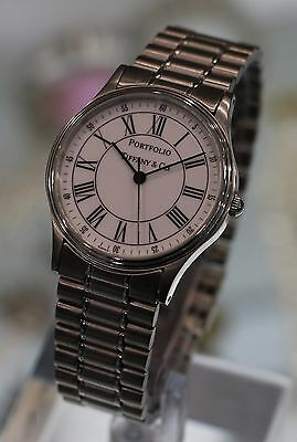 TIFFANY & CO. --- Mid-Size Portfolio Stainless Steel 32mm Watch