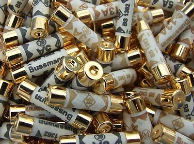Gold Over Silver Plated Audio Grade Bussmann Fuse |  5 Amp | Uk Plug Fuse