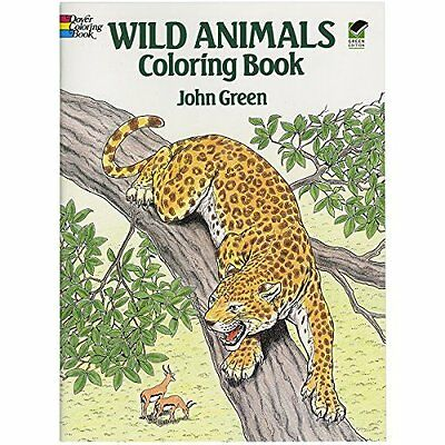 Adult Coloring Book Art Stress Relief Designs Colouring Books Wild Animals NEW