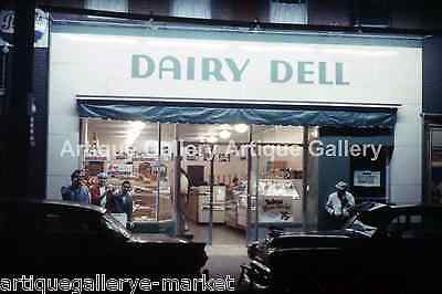 """Vintage 1960-70  8/"""" x 12/"""" Color Photo of Sani Dairy Milk Truck in Johnstown PA"""