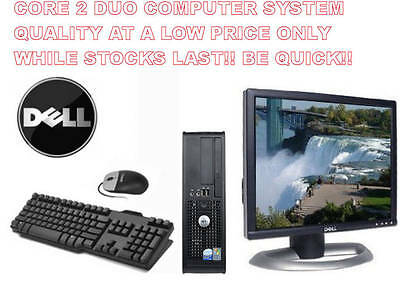 Pc Computer Complete System Fast Core 2 Duo Lcd Screen Windows Office Warranty