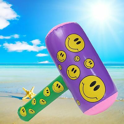 Inflatable Smiley Mallet Hammer Swimming Pool Beach Party Kids Toy Fancy Dress