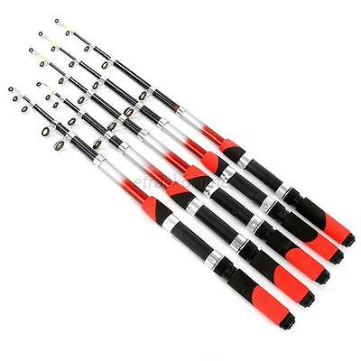 Red Pro Carbon Telescopic Spinning Rod Pole Saltwater Casting Sea Fishing Rod