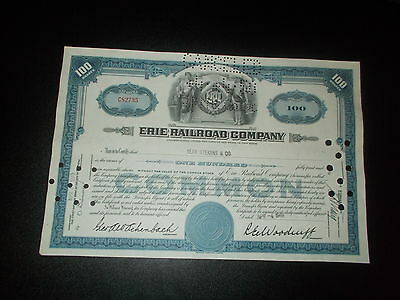 Aktie Stock Cerrtificate Erie Railroad Company 1949