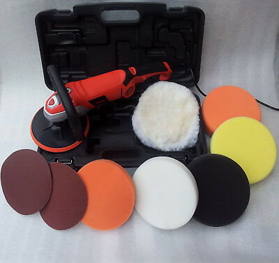 Car Polisher Buffer Sander Platinum Pack With 9 Heads Pro Pad