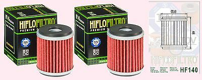 2x HF141 Oil Filter for Yamaha YZF YZF125      YZF-R125  2008 to 2014