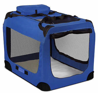 Dog Crate Soft Sided Pet Carrier Foldable Training Kennel Portable Cage House-XL
