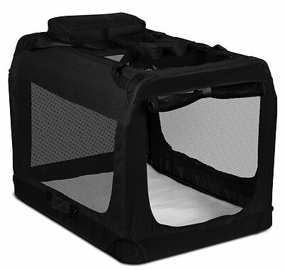 Dog Crate Soft Sided Pet Carrier Foldable Training Kennel Portable Cage House-LG
