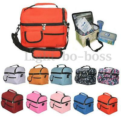8L Portable Picnic Lunch Box Thermal Insulated Cooler Bag Ice Wine Bag Travel AU