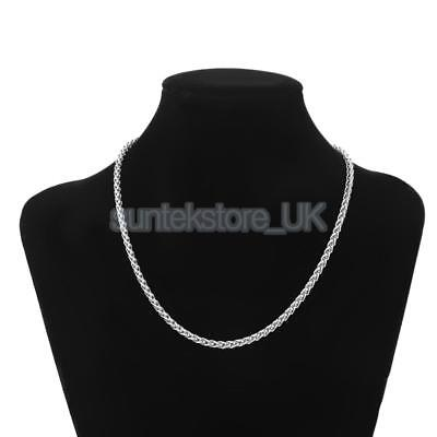 3/4mm MENS Boys Chain Silver Tone Curb Link Stainless Steel Necklace 18-28''