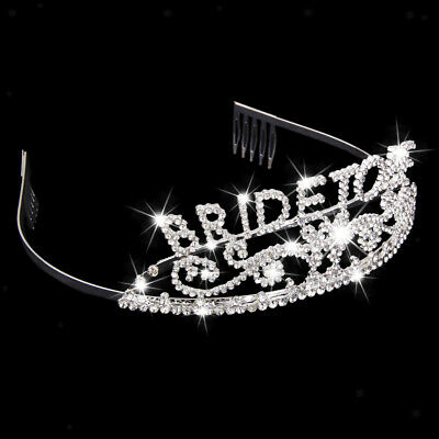 Crystal BRIDE TO BE TIARA Bachelorette GIRLS NIGHT OUT HEN PARTY Headband