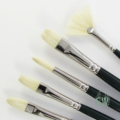 Winsor & Newton Winton Artists 5 Brush Set. For Acrylic & Oil Painting