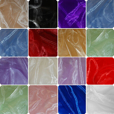 Clearance Sale 1 Metre Sheer Satin Organza Fabric 150cm Wide Material Crafts
