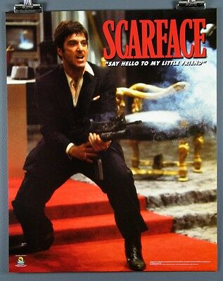 """Scarface """"SAY HELLO TO MY LITTLE FRIEND."""" New 16 x 20 Inch Poster Al Pacino"""