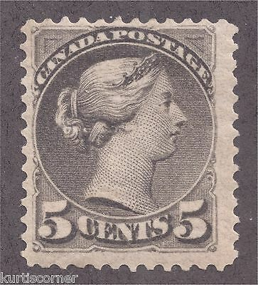 Canada Scott #42 Queen Victoria Ottawa Printing Stamp Mint Hinged Original Gum