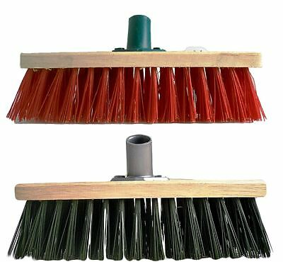 Garden Brush Head Sweeping Cleaning Yard Stiff Bristles Outdoor