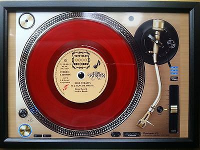 DIRE STRAITS 7'' Red Single Promo copy playing on a turntable Memorabilia Frame
