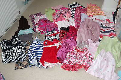 RANDOM 50 PIECE SELECTION JOB LOT OF  GIRLS CLOTHES 0-18 months NEW & USED