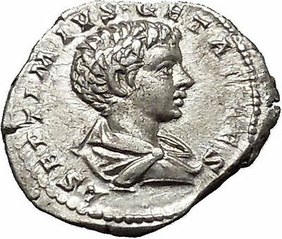 GETA as Caesar Laodicea Ad Mare RARE Silver Ancient Roman Coin Good luck i51044