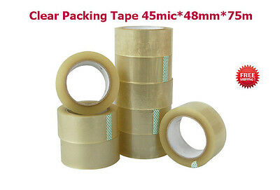 TAPE Rolls Of CLEAR STRONG Parcel Tape Packing  Packaging  45mic*48mm*75