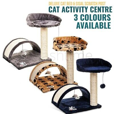 172Cm Large Cat Tree Scratcher Scratching Kitten Climb Post Sisal Toy Activity