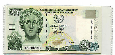 2005  £10 Central bank of Cyprus 10 Pounds -X294