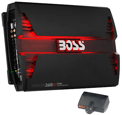 New Boss Audio PF2600 2600W 4 Channel Car Audio Amplifier Power LED Amp+Remote