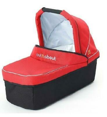Out n About Nipper Carrycot (Carnival Red) with Mattress