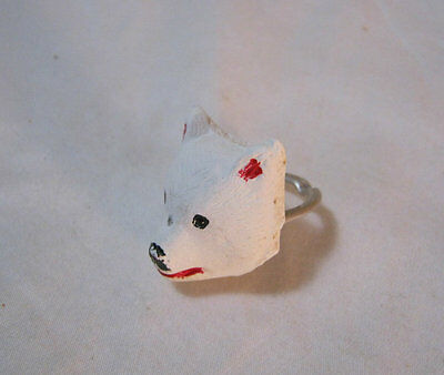 Boy Scout Hand painted Bear Neckerchief Slide early 1970's vintage