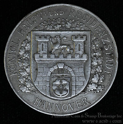 Germany-Hannover 1912 40.4mm silver 50th Anniversary Shooting Medal Scarce.