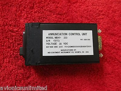 28V Mid-Continent Md41-233 Annunciation Control Unit