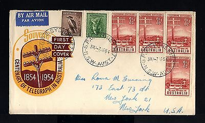 7786-AUSTRALIA-AIRMAIL FIRST DAY COVER SYDNEY to NEW YORK (usa) 1954.BRITISH.
