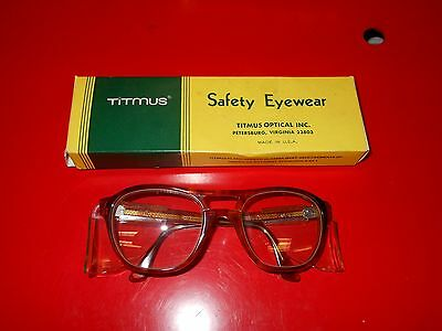New Old Stock Vintage Safety Glasses Steampunk Titmus Side Protectors Military