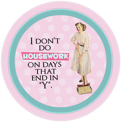 "New I Don't Do Housework With Days That End in ""Y"" Retro Tin Kitchen Serving Tra"