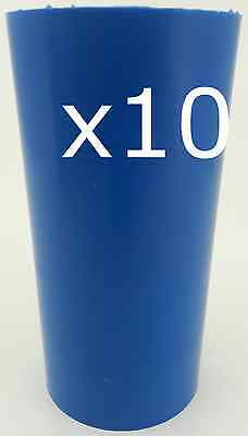 10 Pillar plastic candle moulds. Make pillar candles from 3 to 10cm high.