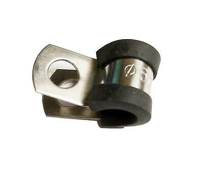 MARINE GRADE RUBBER LINED P CLIPS 316 STAINLESS STEEL BOAT WIRING CONDUIT CLIPS