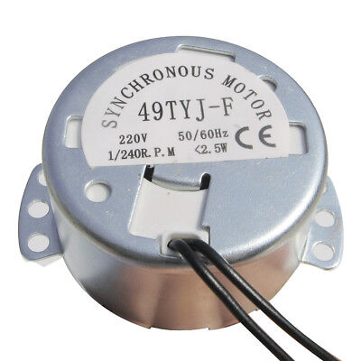 1/240 RPM Electric Egg Turner Motor Replacement Timing Motor for Farm Hatch Use